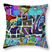 Scrap Of Paper Throw Pillow by Gwyn Newcombe