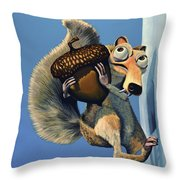 Scrat Of Ice Age Throw Pillow by Paul Meijering