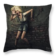 Scream Throw Pillow by Jutta Maria Pusl