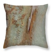 Scribbled Abstract Throw Pillow by Denise Clark