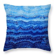 Sea And Sky Original Painting Throw Pillow by Sol Luckman