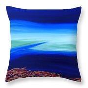 Sea Dragon Throw Pillow by Robert Nickologianis