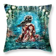 Sea Of Love Throw Pillow by Carrie Joy Byrnes