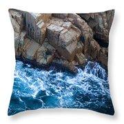 Sea Rocks Throw Pillow by Frank Tschakert