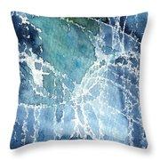 Sea Spray Throw Pillow by Linda Woods