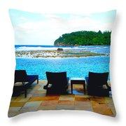 Sea Star Villa Throw Pillow by Carey Chen
