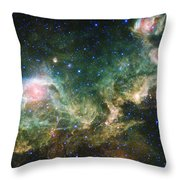 Seagull Nebula Throw Pillow by Adam Romanowicz