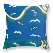 Seagulls Throw Pillow by Patrick J Murphy