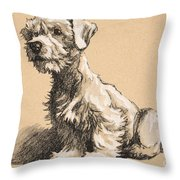 Sealyham Throw Pillow by Cecil Charles Windsor Aldin