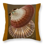 Seashells Spectacular No 53 Throw Pillow by Ben and Raisa Gertsberg