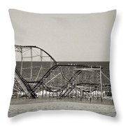 Seaside After Sandy Throw Pillow by Mark Miller