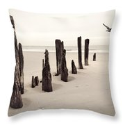 Seaside Throw Pillow by Gary Heller