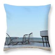 Seaside Heights Jetstar Throw Pillow by Sami Martin