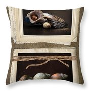 Seaside Momentos Throw Pillow by Lisa Knechtel