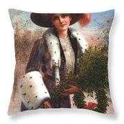 Seasons Greetings Throw Pillow by Emile Vernon