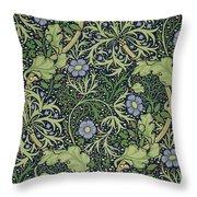 Seaweed Wallpaper Design Throw Pillow by William Morris