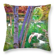 Secluded Pond Throw Pillow by Chuck Staley