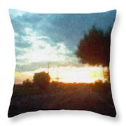 Second Sunset Throw Pillow by Pharris Art