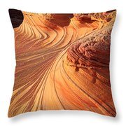 Second Wave Flow Throw Pillow by Inge Johnsson