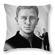 Secret Agent Throw Pillow by Andrew Read
