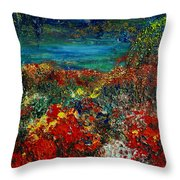 SECRET GARDEN Throw Pillow by TERESA WEGRZYN