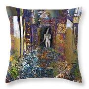 Secret Garden Throw Pillow by Ursula Freer