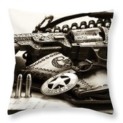 Security Throw Pillow by John Rizzuto