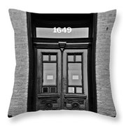 Sedgwick Street Old Town Chicago Throw Pillow by Christine Till