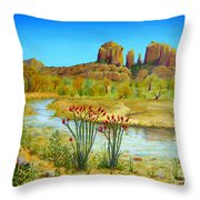 Sedona Arizona Throw Pillow by Jerome Stumphauzer