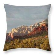 Sedona Sunshine Panorama Throw Pillow by Carol Groenen