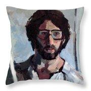 Self Portrait 1982 Throw Pillow by David Baruch Wolk