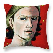 Self Portrait 1995 Throw Pillow by Feile Case