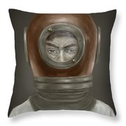 Self Portrait Throw Pillow by Balazs Solti