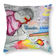 Self Portrait Throw Pillow by Justin Moore