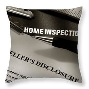 Seller Disclosure Throw Pillow by Olivier Le Queinec