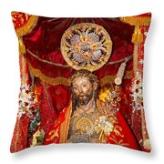 Senhor Santo Cristo dos Milagres Throw Pillow by Gaspar Avila