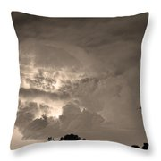 Sepia Light Show Throw Pillow by James BO  Insogna