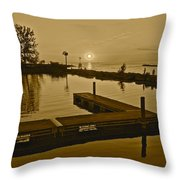 Sepia Sunset Throw Pillow by Frozen in Time Fine Art Photography