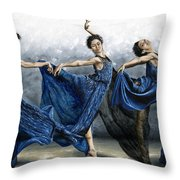 Sequential Dancer Throw Pillow by Richard Young