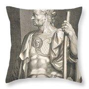 Sergius Galba Emperor Of Rome  Throw Pillow by Titian