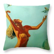 Set Free Throw Pillow by EricA Art