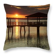 Setting Sun Throw Pillow by Phill  Doherty