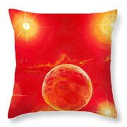 Seven Suns Throw Pillow by Murphy Elliott