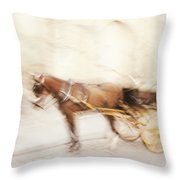 Seville Impression Throw Pillow by Jenny Rainbow