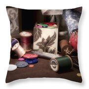 Sewing Notions II Throw Pillow by Tom Mc Nemar