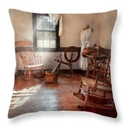 Sewing - Room - Grandma's Sewing Room Throw Pillow by Mike Savad