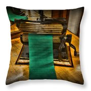 Sewing - The Victorian Seamstress  Throw Pillow by Paul Ward