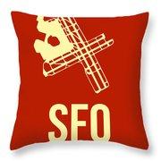 Sfo San Francisco Airport Poster 2 Throw Pillow by Naxart Studio
