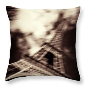 Shades Of Paris Throw Pillow by Dave Bowman