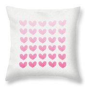 Shades Of Pink Throw Pillow by Aged Pixel